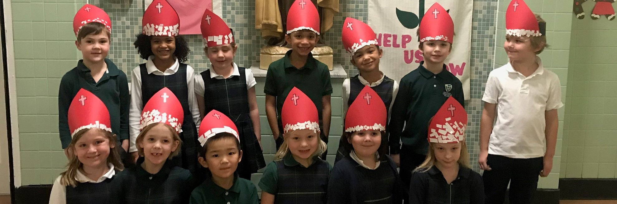 Kids dressed for St. Nicholas Day